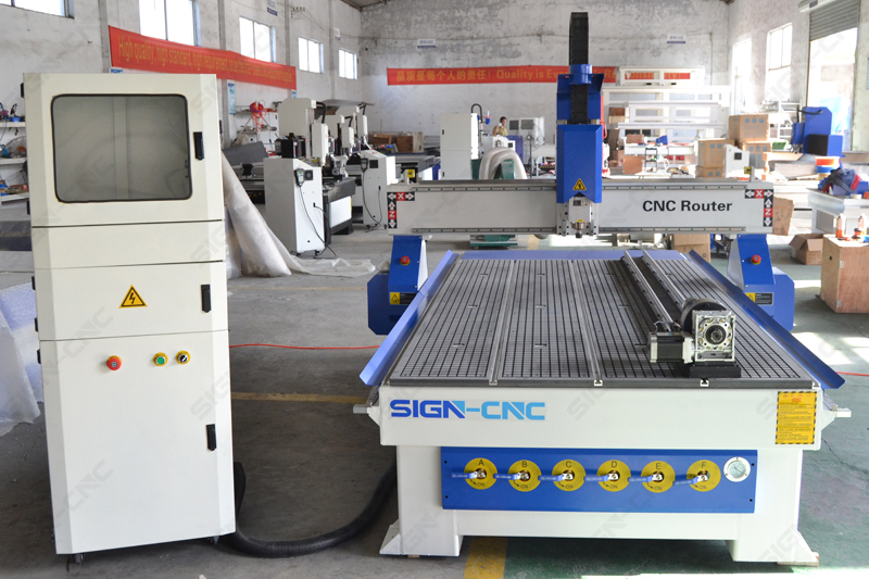 CNC Router1325 with 4th Rotary Axis for Aluminum, Wood, MDF