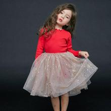 2019 Spring Autumn Girls Long Sleeve Tutu <strong>Dress</strong> Fashion Sequin Lace Party Ball Gown Beautiful <strong>Girl's</strong> Princess <strong>Dress</strong>