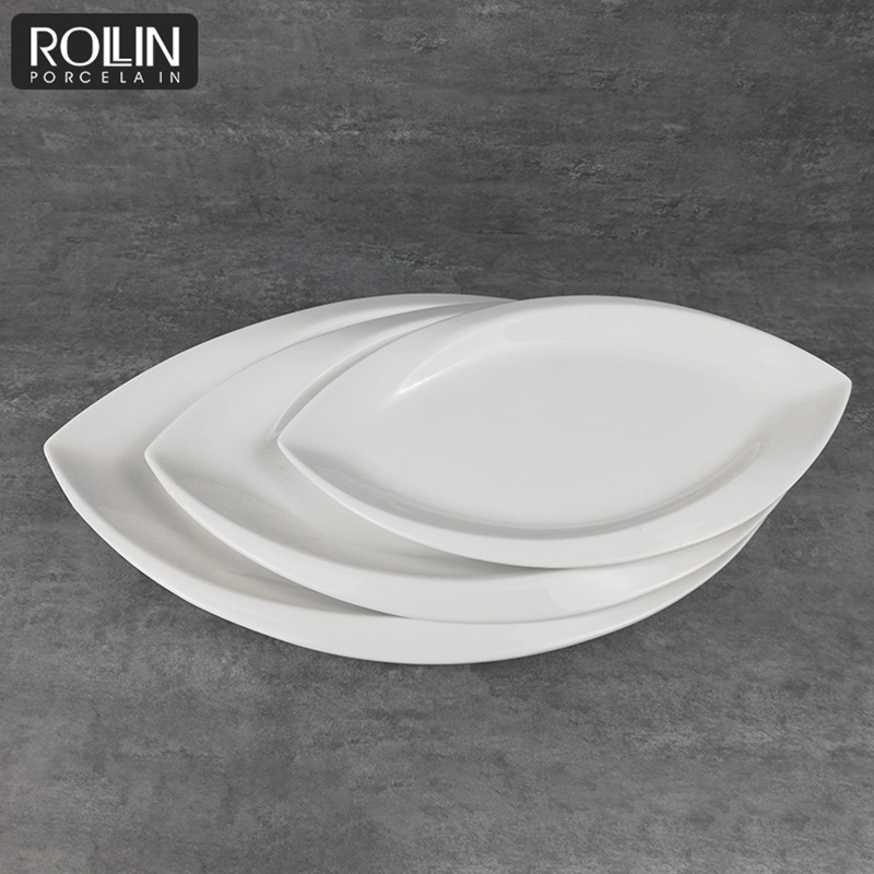 Porcelain plate high quality ceramic plates  Ivory White Ceramic Plate Wholesale
