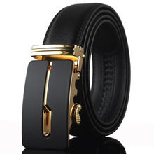 Q152 Luxury Business Genuine Leather Male <strong>Belts</strong> Classics Vintage Automatic Gold Silver Buckle Men <strong>Belt</strong>