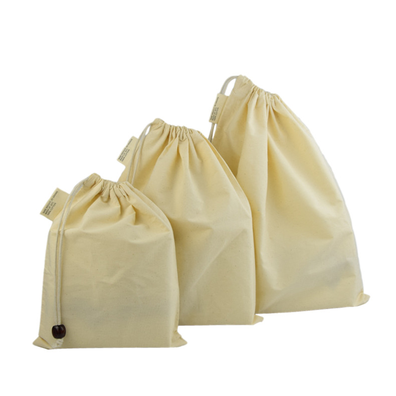 muslin string shopping canvas organic cotton drawstring bag