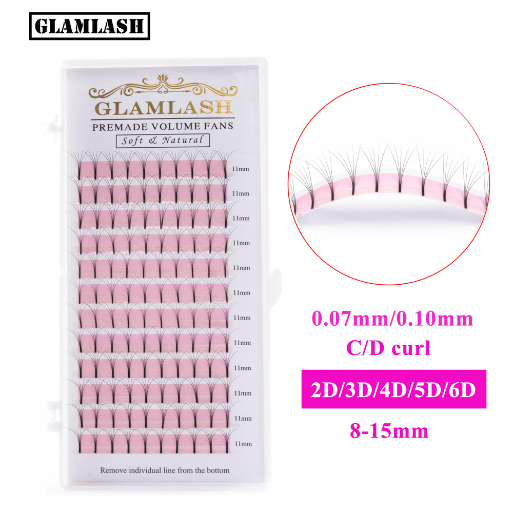 High Quality <strong>W</strong> Bulk Premade Fan 3D Loose Russian Wide Create Your Own Heat Bonded 0.07Mm Volume Lash Extension