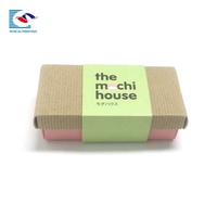recyclable custom corrugated lid and art paper based box for dessert packaging