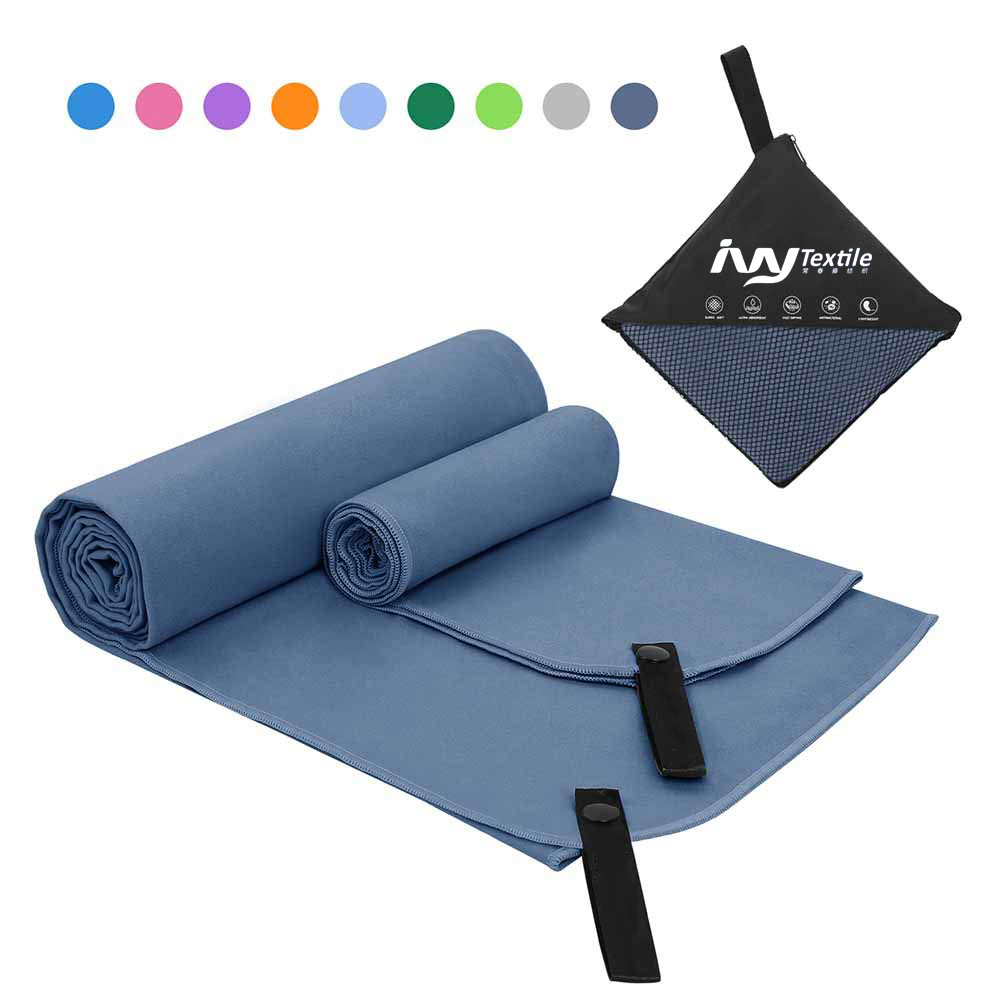 Customized logo printed quick dry recycled microfiber sport gym <strong>towel</strong> with magnetic wholesale