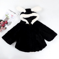 Factory wholesale Korean autumn and winter Rex rabbit fur coat cloak children