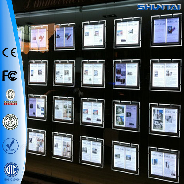 Magnetic <strong>led</strong> real estate agent window <strong>led</strong> display