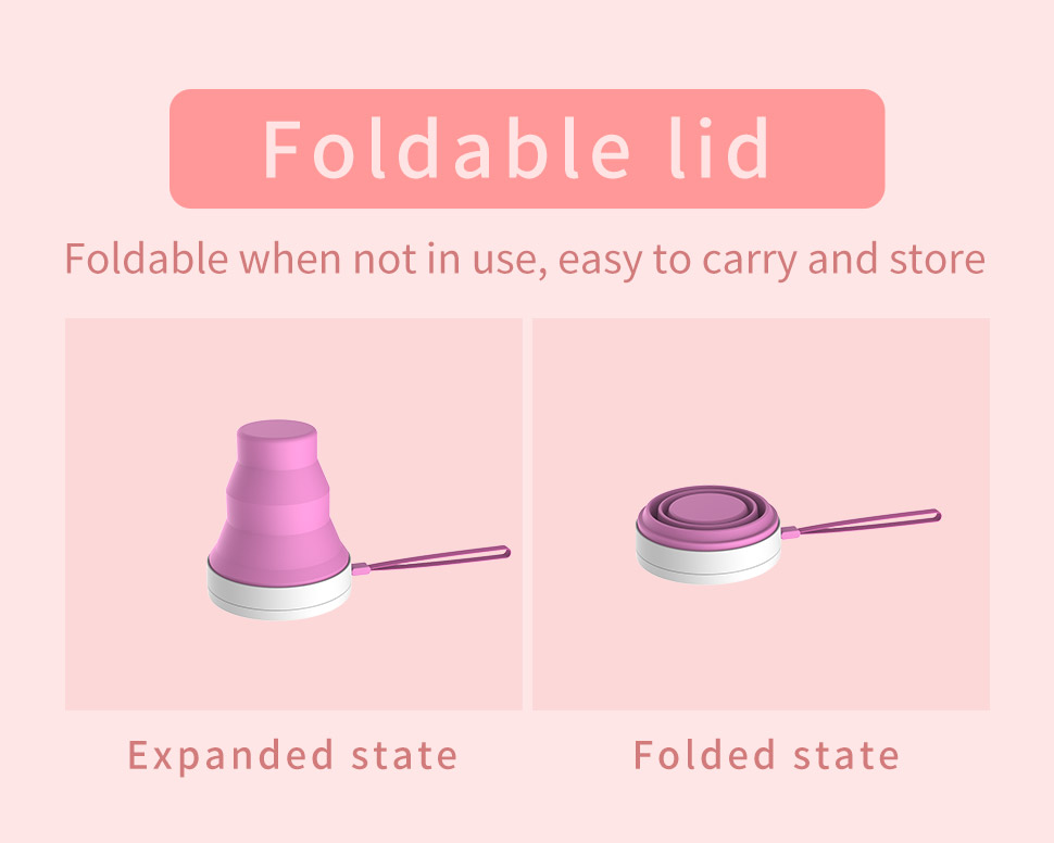 Custom Foldable Storage Cleaner folding uv light sterilizing glass holder menstrual cup sterilizer