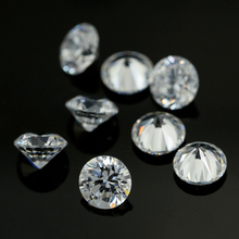 Wholesale price China high quality white round cubic zirconia 0.7-2.0mm cz <strong>stone</strong>