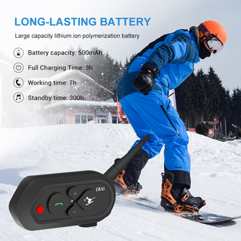 Ejeas RIDER MOTO HELMET BLUETOOTH HELMET HEADSET INTERCOM FOR SKI