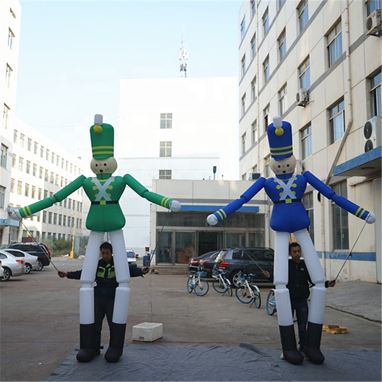 <strong>Inflatable</strong> Moving Cartoon Costume <strong>Inflatable</strong> Soldier puppet With Long Leg For Advertising Events Outdoor Puppet