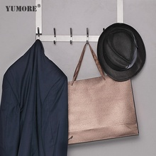 YUMORE Over The Door <strong>Hook</strong>, Stainless Steel Heavy Duty Door Hanger Coats Robes Cloth Kitchen Bathroom S Type Hanging Metal <strong>Hooks</strong>