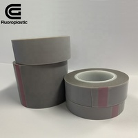 0.13mm heat resistant teflono silicone self adhesive ptfe film tape