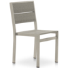 Mixed Material Outdoor Dining Side Chair
