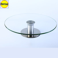 Modern Simple Party Wedding Decorating Glass Plate Candy Bread Tray Holder Cupcake Cup Cake Stand