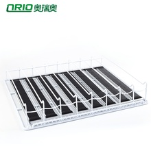 Industrial refrigeration equipment retail adjustable store goods gravity roller acrylic display supermarket <strong>shelf</strong>