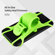 Universal 4-6 inch Silicone Waterproof Bike Mobile Holder Motorcycle E-BIKE Phone Mount