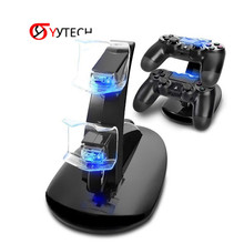 SYYTECH Controller Charger Dock LED Dual USB PS4 Charging Stand Station Cradle for Sony <strong>Playstation</strong> 4 PS4 / PS4 Pro /PS4 Slim