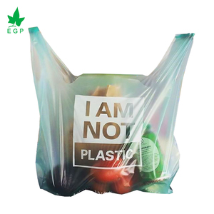 Biodegradable plastic carry bags compostable t-shirt shopping bag packing
