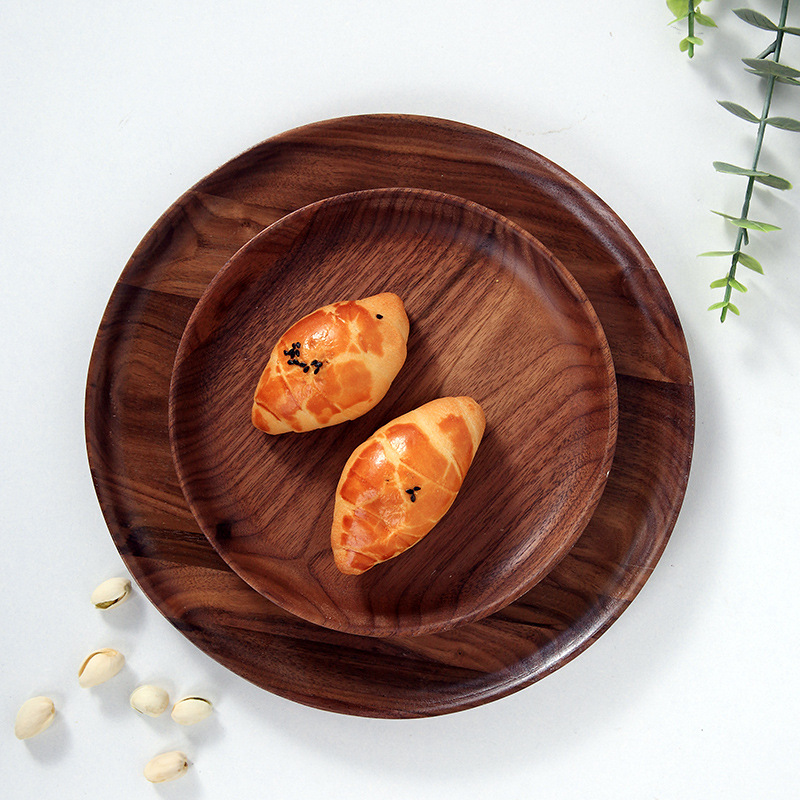 Serving Tray Crafted from Fir Wood and with Two Handles