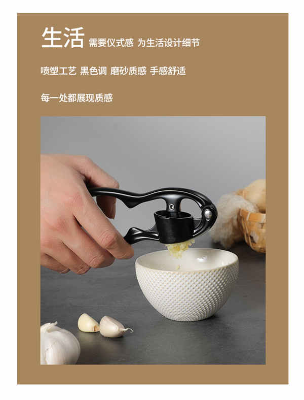 2019 Brand New Garlic Press No Stainless Steel Kitchen Tool Professional Easy-Squeeze