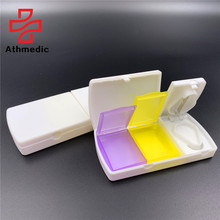 2021 Athmedic 7 days weekly multifunctional case with pill box pill cutter with <strong>container</strong>