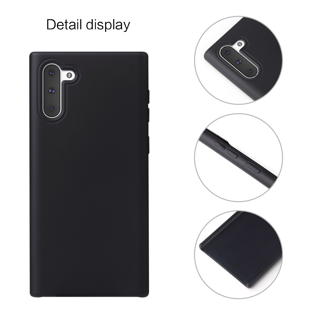 For Samsung Silicone Phone Case With Customized Logo, Liquid Silicone Back Cover Cell Phone Case for Samsung Note 10