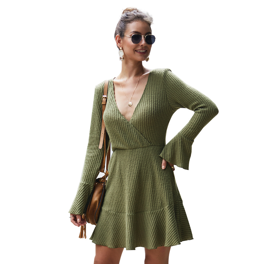 Professional autumn sexy long sleeve dresses women clothing mini dress with great price