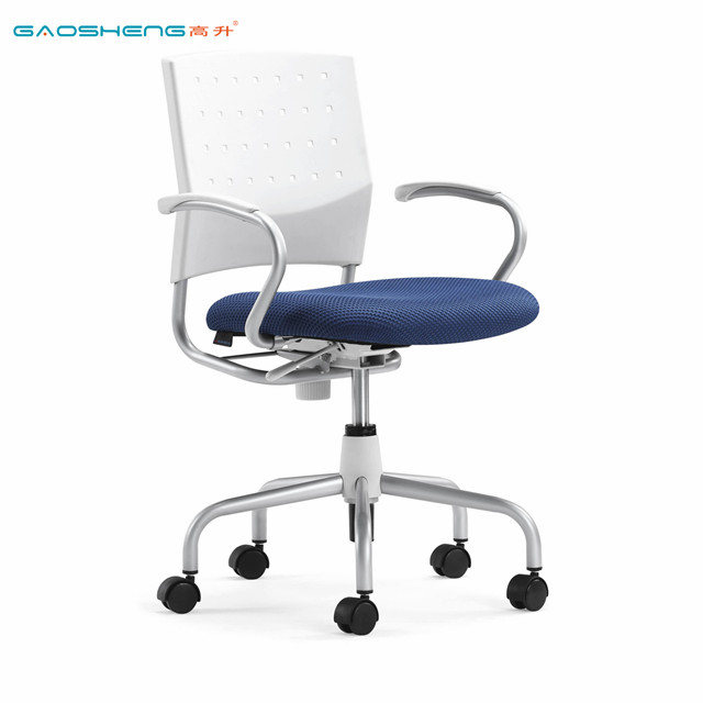 Plastic Metal Height Adjustable Swivel Task Chair With Armrest Chair