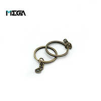 Wholesale keychains bulk iron round shaped keychain metal keyring chain split key chain ring
