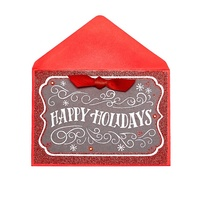 Custom Happy Holidays Paper Cards, Handmade High Quality Printing Christmas Greeting Cards