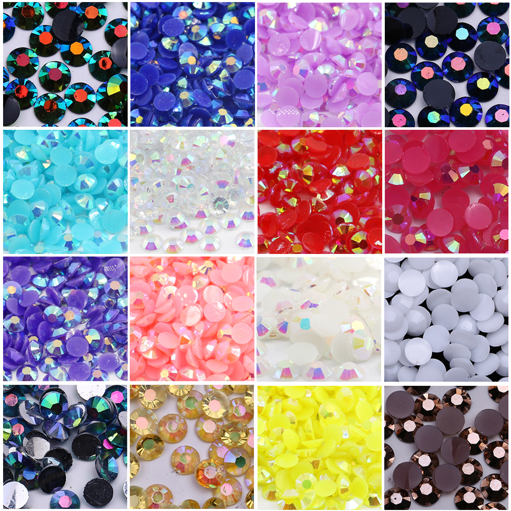 XULIN High Quality Jelly AB Color Non Hot Fix Flat Back Resin Rhinestone Stones For Diy Phone Case Garment Shoes Bag