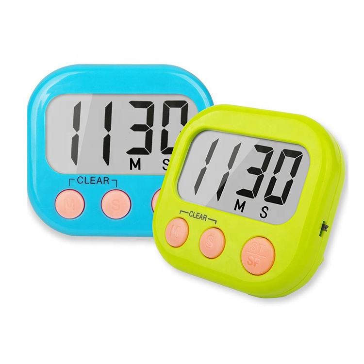 Digital Kitchen Countdown <strong>Timer</strong> LCD big Digits Loud Alarm Magnetic Backing Stand ON OFF Switch for Cooking Game Exercise Office