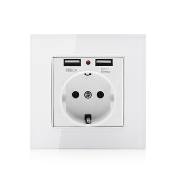 European standard EU power plug 2 USB 16A wall socket