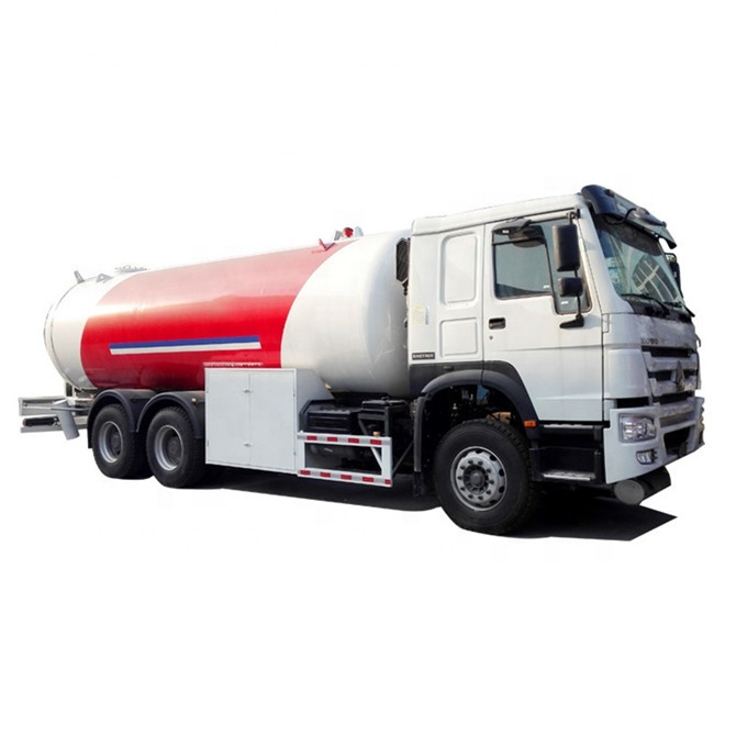 CLW HOWO 6x4 10 Wheel <strong>LPG</strong> Bobtail Tank Truck 24M3 24000L For Filling <strong>LPG</strong> Gas Cylinders