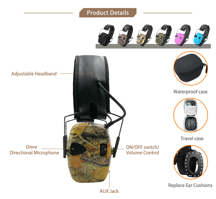 Shooting Safety Earmuff Hearing Protector Electronic Shooting Hearing Protector