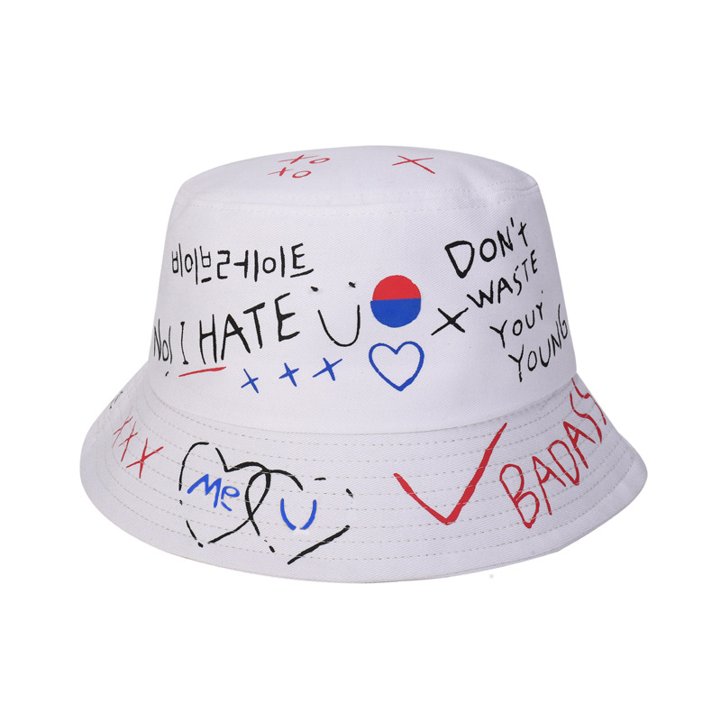Unisex Harajuku Custom Logo Bucket Hat Fishing Outdoor Hip Hop Cap Men's Street Summer Fisherman Hat Women