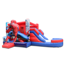 Commercial Bouncing Spiderman Inflatable Bouncy Jumping Castles Inflatable House With Slide