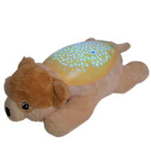 Cute Puppy Slumber Buddies Projection and Melodies soft plush toy Sleep Soother Toys For Infant,Yellow puppy <strong>animal</strong>
