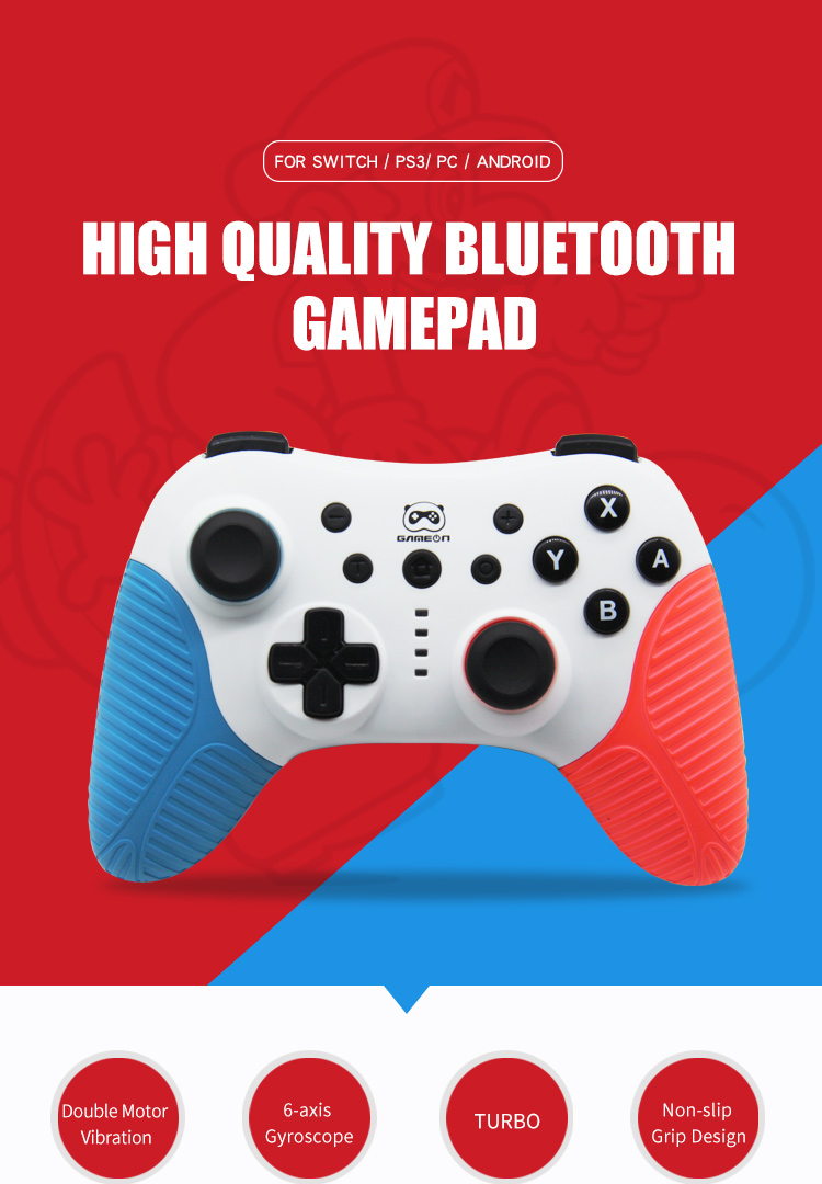 2020 wholesale wireless bt gaming controller for Nintend Switch /PS3/PC/Android Pro Controller