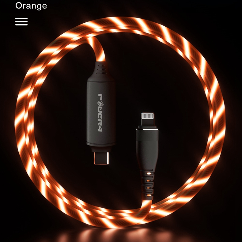 High-elastic soft pvc usb led light 3ft 5ft for iphone 11 mfi fast speed 3a pd charging <strong>c</strong> to lightnings mobile phone usb cable