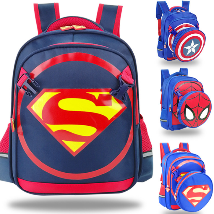 3-6-12 years old kindergarten school one or two children primary school students large-capacity movie character design backpack