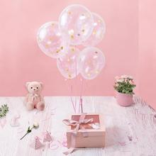 New Release Amazon <strong>12</strong>&quot; 18&quot; 36&quot; Hot Transparent Clear Rose Gold Confetti Latex Balloon For Wedding Party Decoration