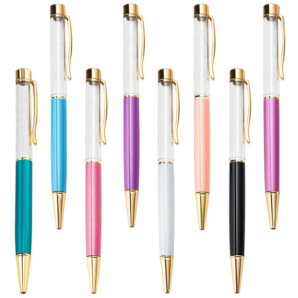 Japan hot sale promotional ball <strong>pen</strong> with liquid creative DIY floater <strong>pen</strong> colorful glitter ballpoint <strong>pen</strong>