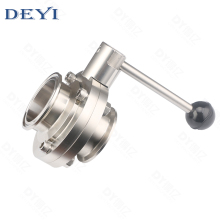 2inch 3A Sanitary <strong>stainless</strong> steel triclamp butterfly valve with pull handle SS304