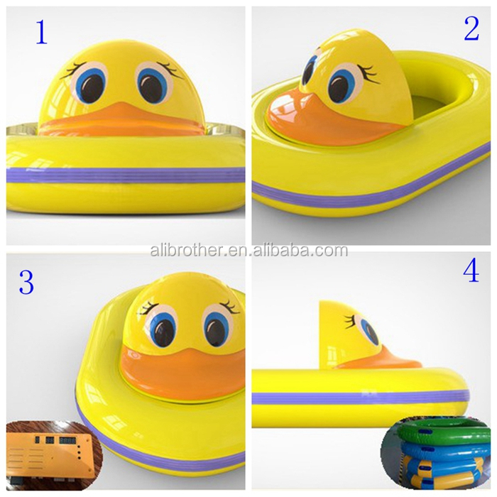 Fiberglass kids animal design Inflatable Electric Boats Water Pool Bumper Boat
