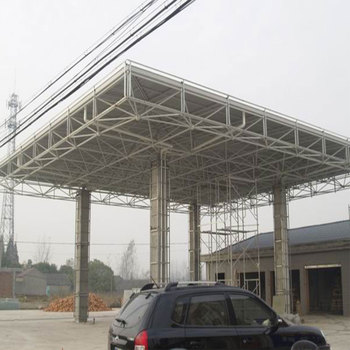 China Best Design Integrated Steel Structure Frame Gas Station Shed For Sale