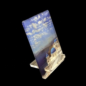 UV printing landscape design clear plexilgass smartphone holder