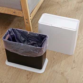 Wholesale Eco Friendly Kitchen Bins Plastic Trash Cans with lid