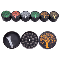 GZ310003B new hot Custom Logo 3 layers Smoking Accessory Tobacco Herb Weed Grinder zinc alloy Grinder
