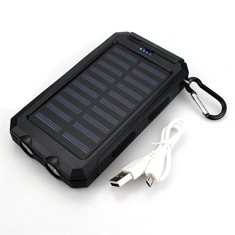 NEW Waterproof 20000mah Dual USB Solar Battery Charger Travel Power bank for All Phone